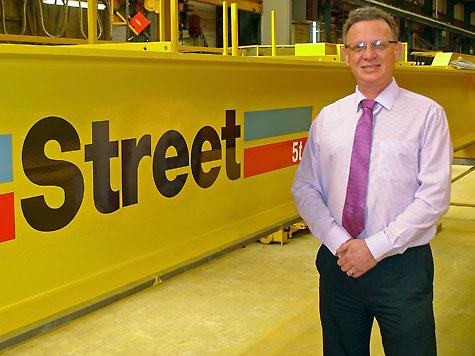 Paul will find new distributors for Street's overhead cranes, crane kits and hoists.