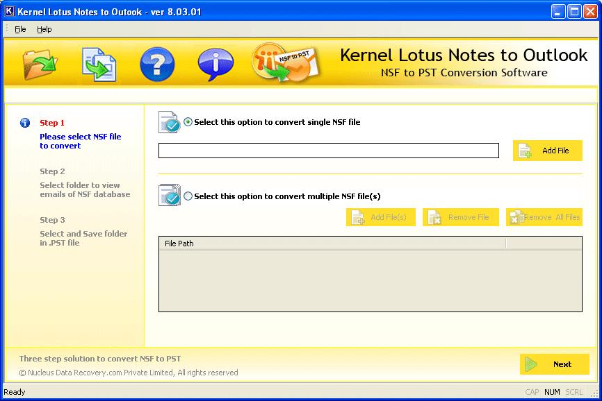 Lotus notes to outlook, nsf to pst, lotus notes to outlook conversion software, convert NSF to PST