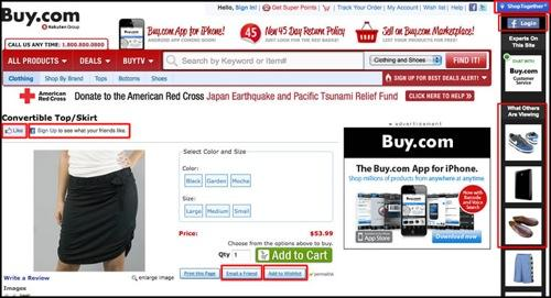 Buy.com places first in the Spring 2011 Retailer Social Commerce Scorecard