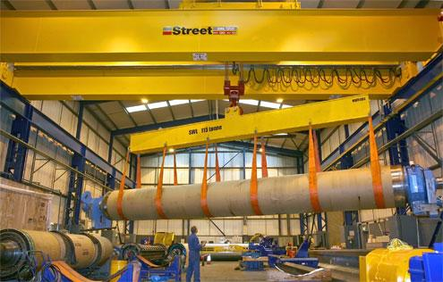 Street Crane Company has supplied a new 120 tonne safe working load crane to Voith Paper