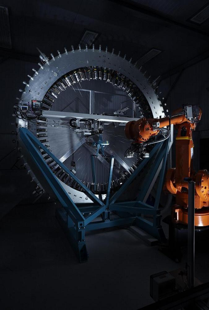 Automated braiding machine at BMC