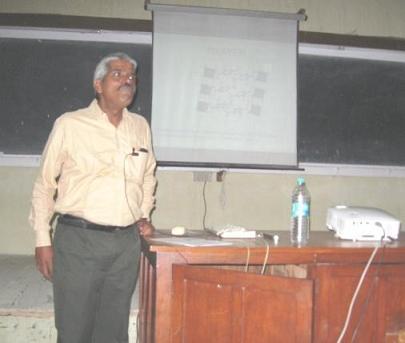 Bikshandarkoil R Srinivasan X-ray Crystallography talk at BITS Pilani