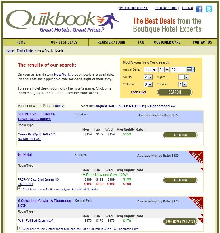 Best Hotel Deals - Quikbook.com Search