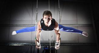 Daniel Keatings will help train local gymnast Zoe Parker
