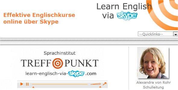 TREFFPUNKT Language Institute now also offers English courses via Skype