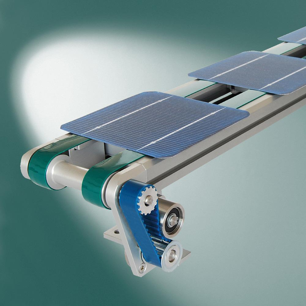 The belt conveyor for wafers developed by Montech
