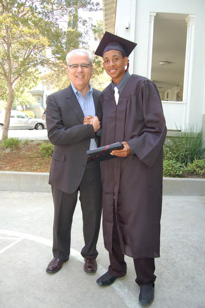 Joseph Costa, Hillsides Chief Executive Office, with HEC Graduate Anthony Anderson