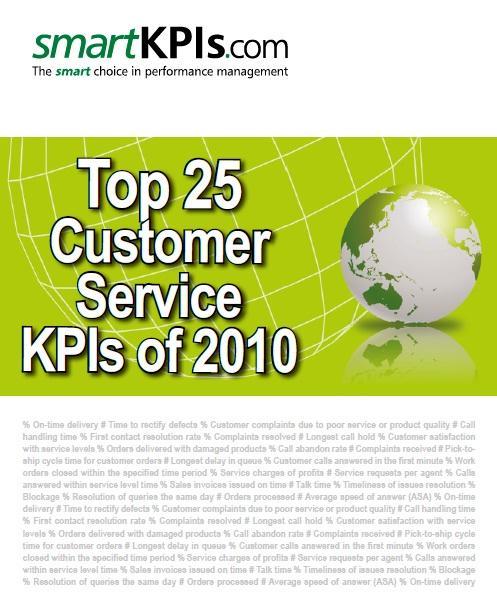 New smartKPIs.com Report Ranks the Top Customer Service KPIs