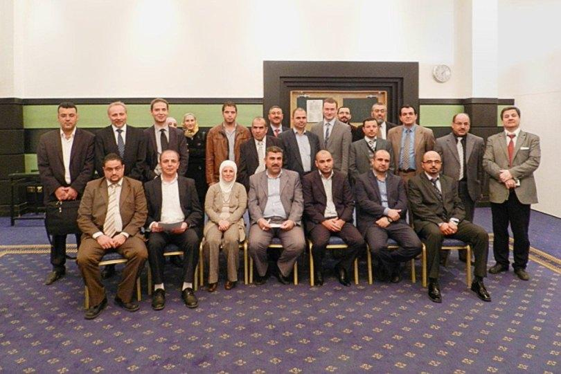 Participants of the kick-off meeting in Jordan with Christian Wahl - technical CEO of Kirchner Solar Group