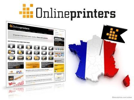 The new French online shop onlineprinters.fr