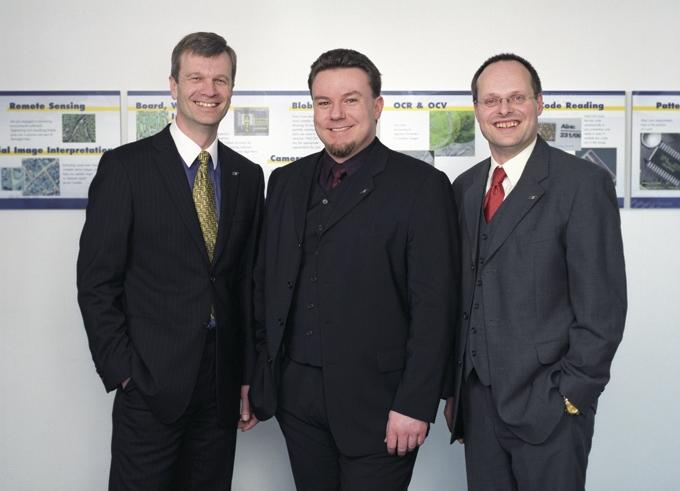 After 15 years still the owners: MVTec's founders Dr. Wolfgang Eckstein, Dr. Carsten Steger, and Dr. Olaf Munkelt