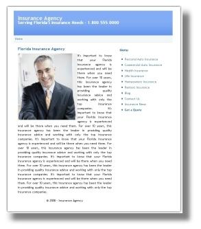 Insurance Agency Web Site is Free with the Insurance Agency SEO Plan