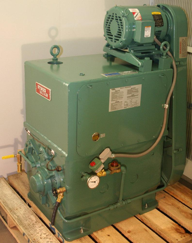 After MHV rebuilt this High Vacuum Stokes pump it looks and runs like new again.