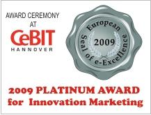 TOPEX received EUROPEAN SEAL OF E-EXCELLENCE 2009 Award /