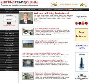 Knitting Trade Journal is the new highly interactive on-line magazine for the global knitting industry