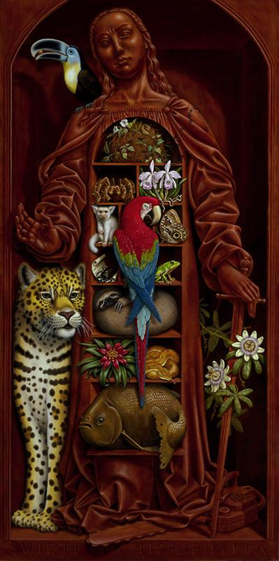The painting Amazon Cabinet by Madeline von Foerster almost didn't make it to the Art Fair 21 in Cologne but was duly sold the opening night.
