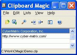 Clipboard Magic main screen