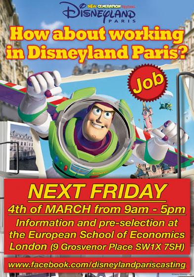 Job Opportunities UK: EuroDisneyland Paris and European School