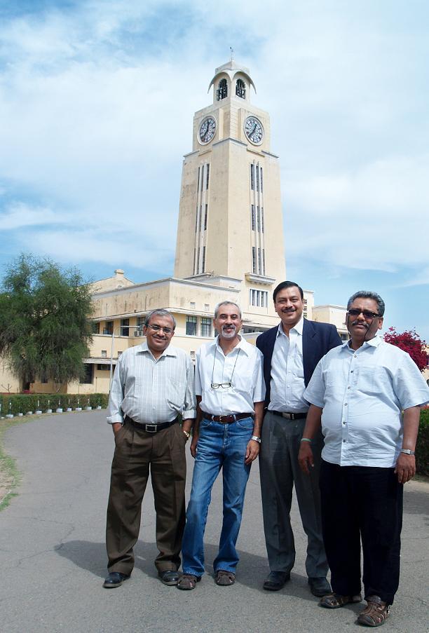 Passion Packed Proud to be BITSians Shivas, sunil Nanda, Chandan Sengupta and Gautam Mazumdar from 75-80 Batch Alumni at BITS Pilani