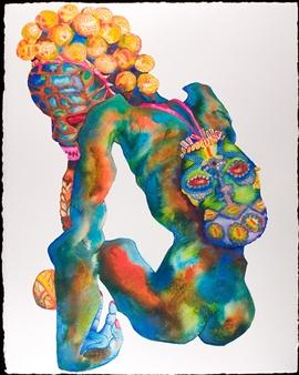 Brian Reed, Death Till Us Part, Mixed Media on Watercolor Paper