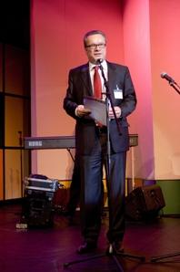 Fuhrmann, Head of Communications & PR, MWM GmbH, Germany, during his address to the festival audience