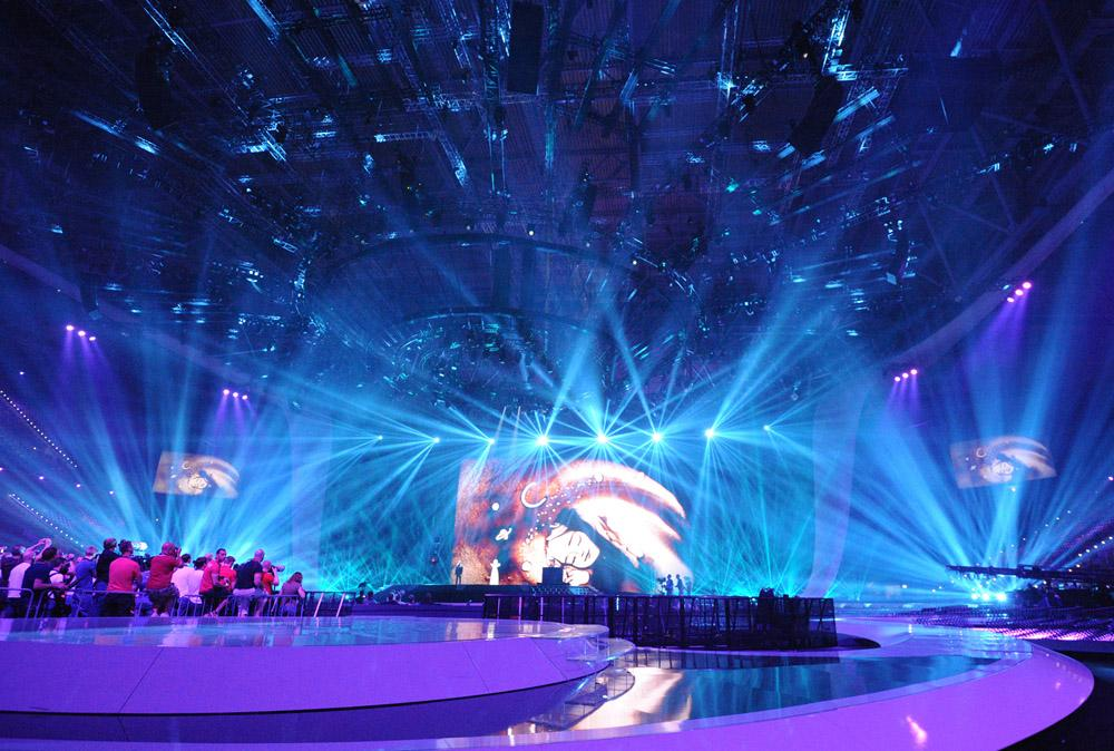 FALCON FLOWER of A&O Technology made quite an impression at the Eurovision Song Contest 2011, Photo: © A&O Technology