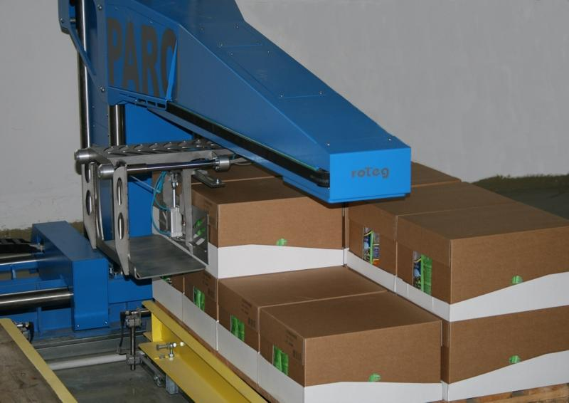 PARO palletising robot with enhanced technical design and increased palletising performance