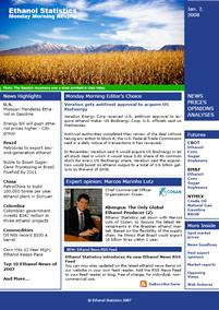 Ethanol Statistics - The Monday Morning Review