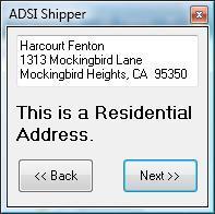 ADSI Shipper Residential & Commercial Address Verification