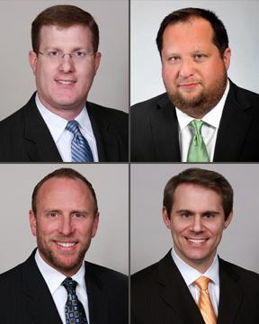 New Gardere Wynne Sewell partners, clockwise from top left, Michael Dubner, Kevin Chumney, Greg Meeks, Michael Peay