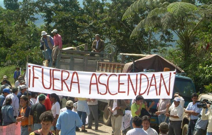 Protesting Ascendant Copper Corporation