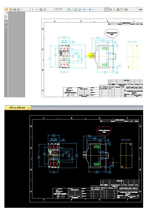 GstarCAD2012 has built in PDF2DXF for converting PDF into DXF