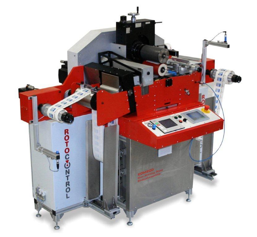 The EDM200, the world?s first ever designed semi-rotary, servo-driven UV-flexo machine