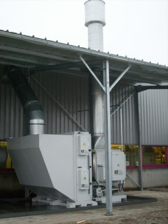 LTA Filter AC 20001 with nozzle, blower and pumpe