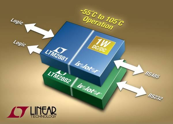 -55°C to 105°C Rated Isolated Transceivers with Power