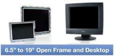Complete 6.5 inch to 24 inch open frame and enclosed frame touchscreen LCD monitors