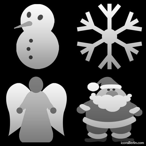 Tab bar icons for iPhone apps - Christmas motifs by iconsBerlin