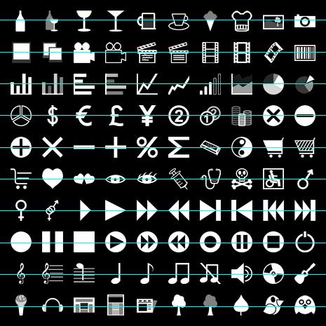 tab bar icons collection for iPhone apps by iconsBerlin