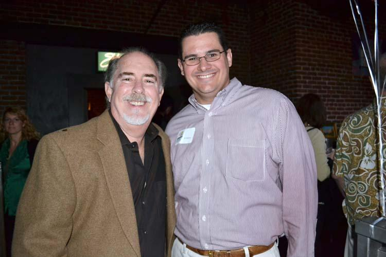 Bob Fisher, Owner of The Ice House Comedy Club, with Ed Patterson, Hillsides Volunteer Network President