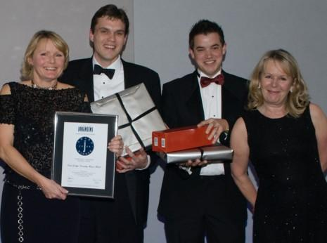From right to left: Virginia Childs, Newick Park owner; Tom Hibbert, Deputy Manager; and Adrian Clifton, Hotel Manager