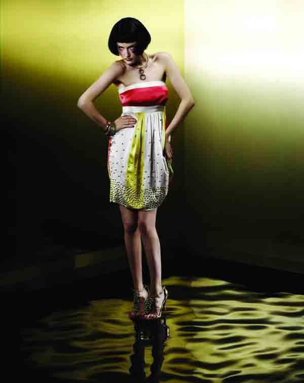 bandeau colour block dress from asos.com