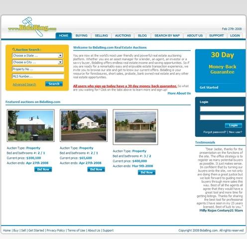 Sellers, agents and buyers find the Bidabing site is straight forward and easy to use.