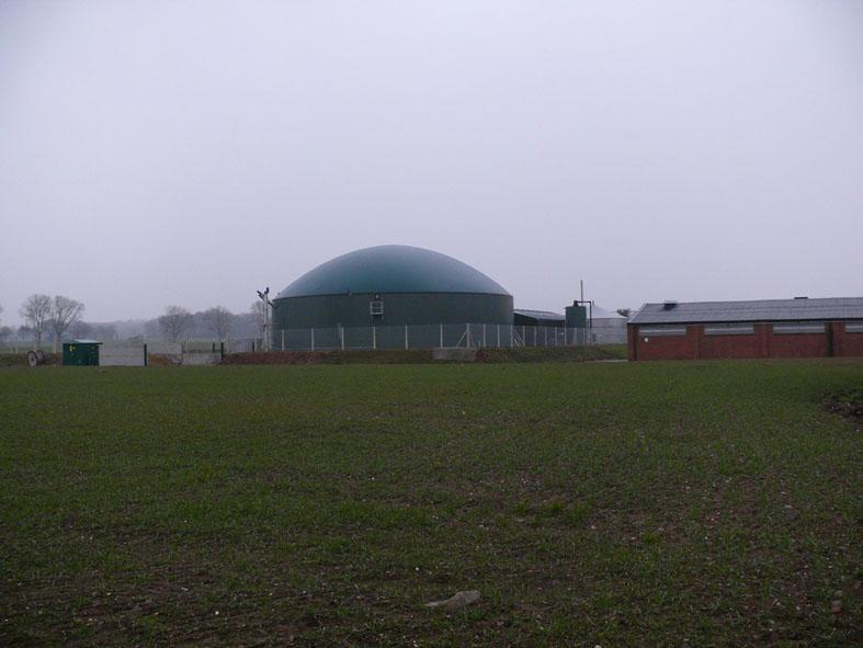 The 500 kW WELtec biogas plant in Gnossall, Stafford