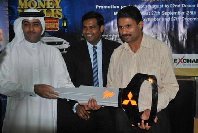 Mr. Yaser Abdulrahman Buallai, Official from the Ministry Of Industry and Commerce Mr. Santhosh Nair, Country Head UAE Exchange