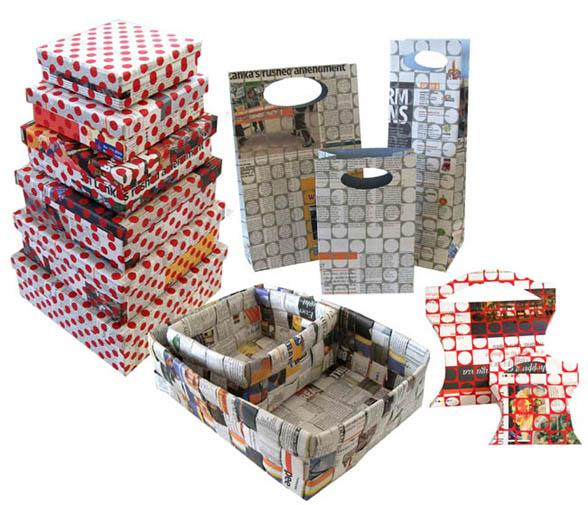 Newspaper printed products