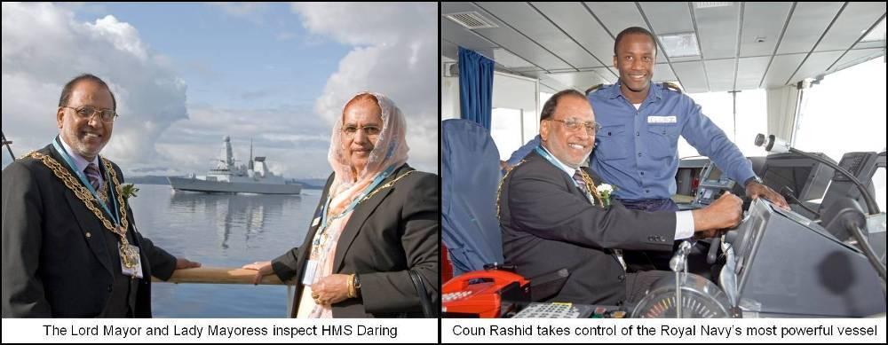 Lord Mayor tours HMS Daring