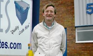 Manager Kevin Parkinson outside Pluscrate?s new south west service centre.