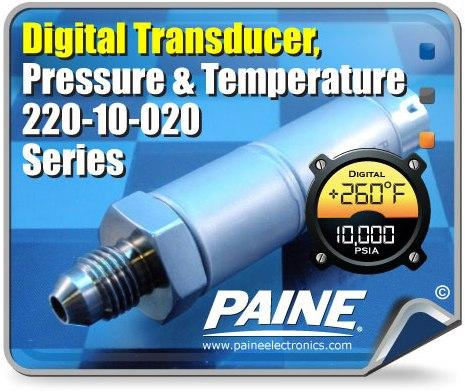 NEW Digital Pressure & Temperature Combination Transducer Series