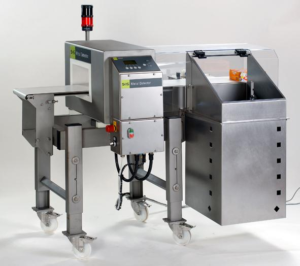 Due to its compact design, the S+S metal detection system VARICON can be easily integrated in production lines. (photo S+S)