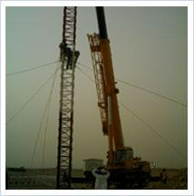 Guyed Masts Tower Company, Installation of Guyed Mast Tower,